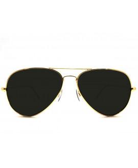 Lunettes Aviator Gold/Noir