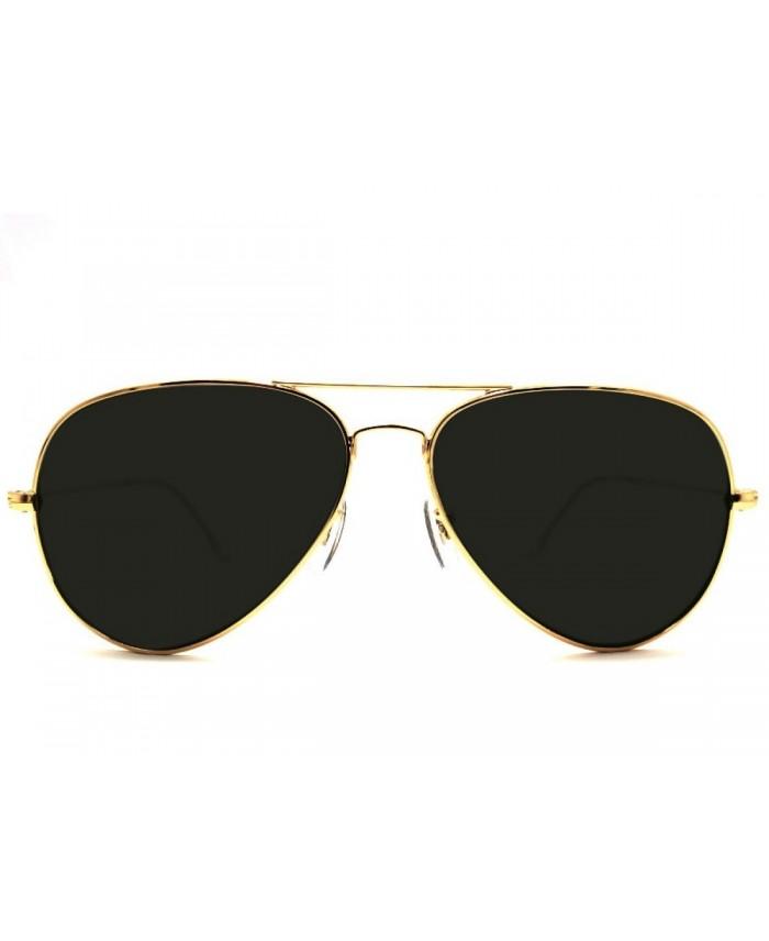 lunette style aviator gold et verres noirs. Black Bedroom Furniture Sets. Home Design Ideas