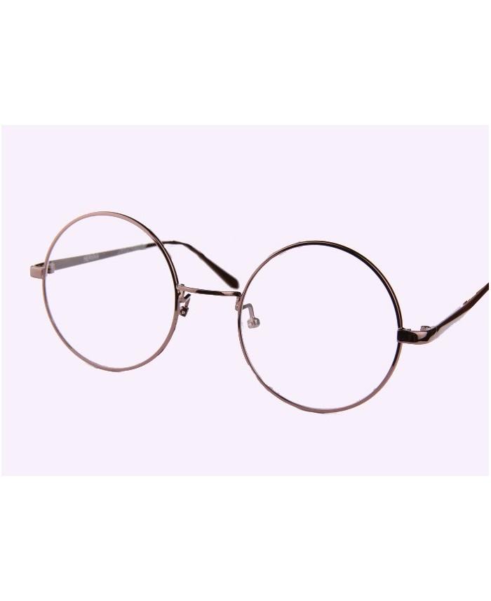 lunettes ronde sans correction oversize monture coffee. Black Bedroom Furniture Sets. Home Design Ideas