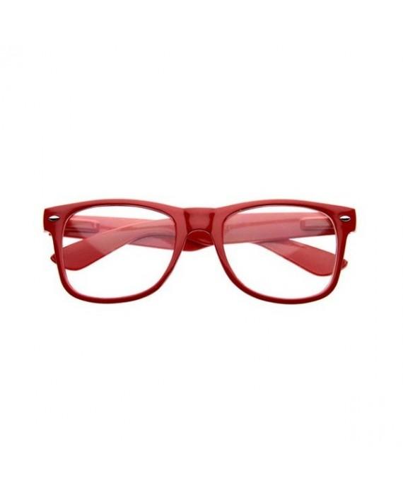 Fausses lunettes de vue Rouge