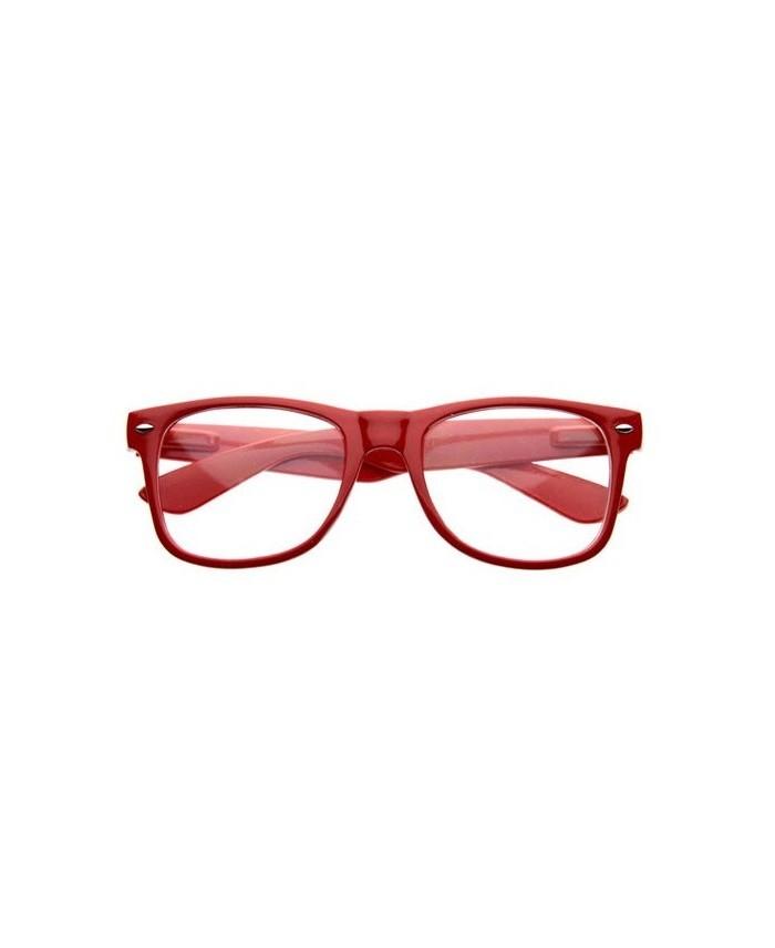 230bd8b7971cf Fausses lunettes de vue Rouge - Lunette GEEK Rouge