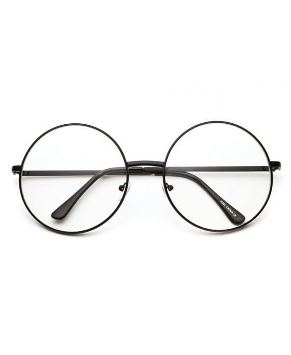 lunettes ronde oversize monture noire. Black Bedroom Furniture Sets. Home Design Ideas