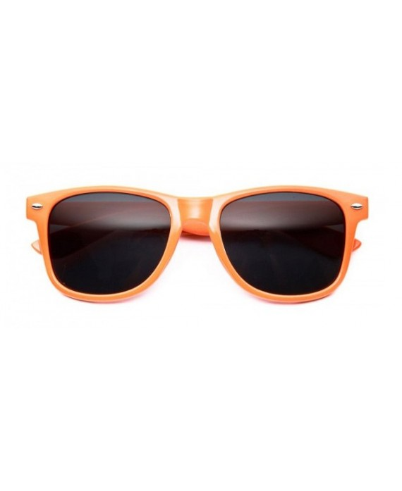 Lunettes style Wayfarer Orange