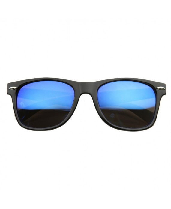 Bleu and noir ray ban wayfarers for Ray ban verre bleu miroir