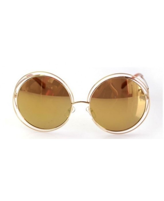 Lunettes style Chloé Carlina Champagne