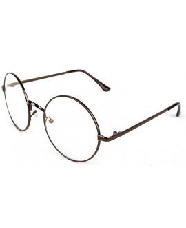 Lunettes Oversize Ronde Coffee
