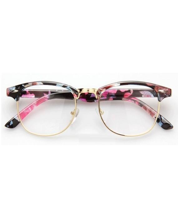 lunettes sans correction style clubmaster flower. Black Bedroom Furniture Sets. Home Design Ideas