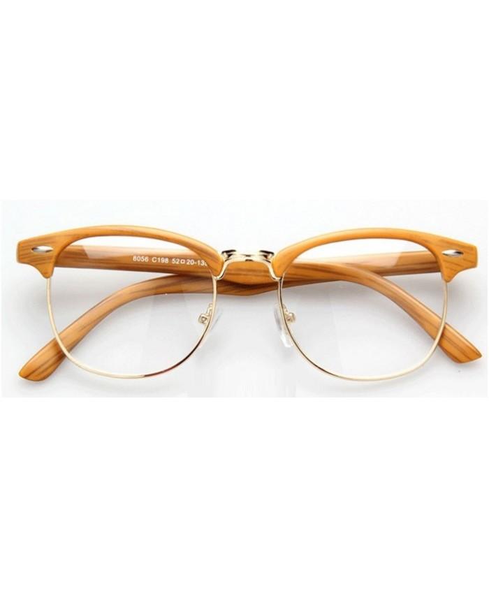 lunettes sans correction style clubmaster imitation bois. Black Bedroom Furniture Sets. Home Design Ideas
