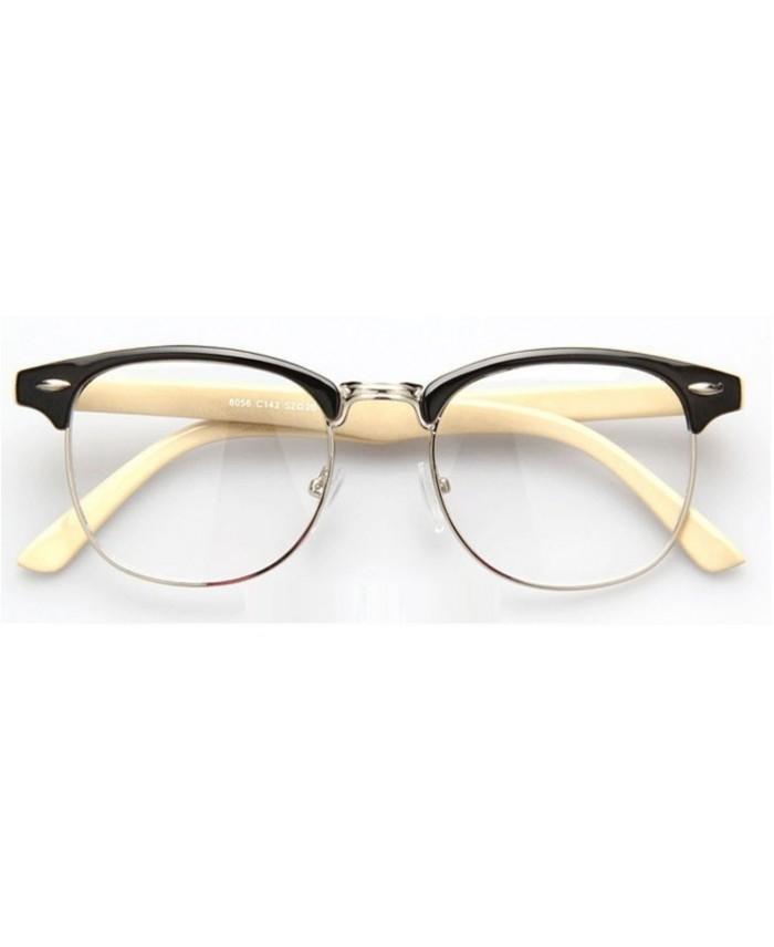 lunettes sans correction style clubmaster beige. Black Bedroom Furniture Sets. Home Design Ideas