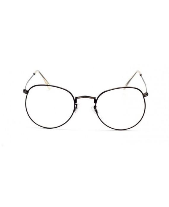 lunette 90 39 s sans correction noire. Black Bedroom Furniture Sets. Home Design Ideas