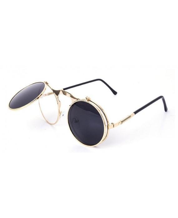 lunettes ronde steampunk monture dor e vintage. Black Bedroom Furniture Sets. Home Design Ideas