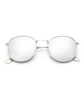 Lunettes de soleil 90's Miroir Argent