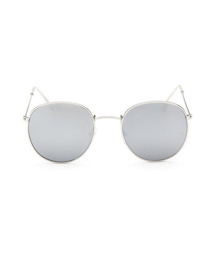 Lunettes de soleil 90 39 s miroir argent - Miroir en forme de lunette ...