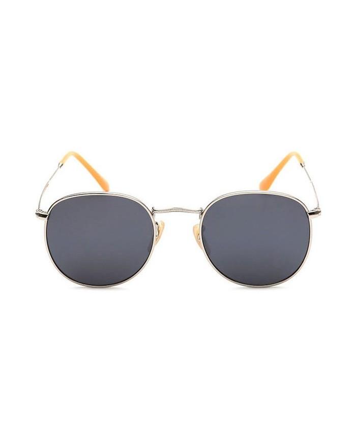 lunettes de soleil ronde 90 39 s aregnt et noir. Black Bedroom Furniture Sets. Home Design Ideas