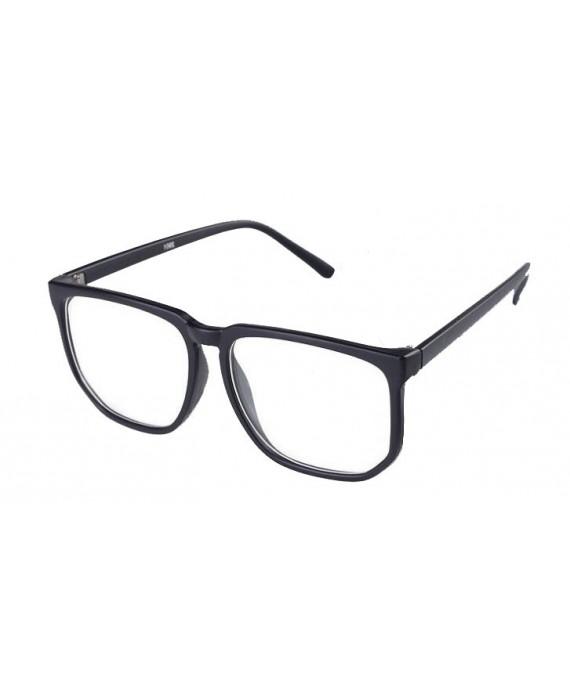 Fausse Lunette Geek Noir Mat avec verres
