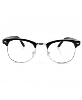 Lunettes style Clubmaster Noir