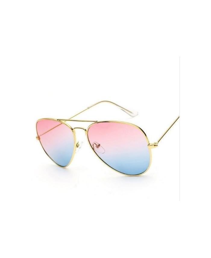 solaire style Aviator Coachella dégradé rose bleu
