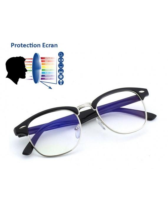lunettes anti lumi re bleue clubmaster noir lunette vintage. Black Bedroom Furniture Sets. Home Design Ideas