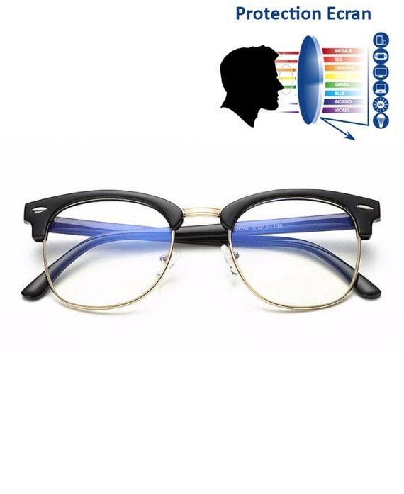 lunettes anti lumi re bleue clubmaster noir gold. Black Bedroom Furniture Sets. Home Design Ideas