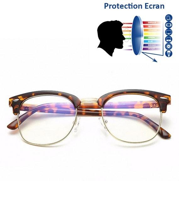 lunettes d 39 ordinateur anti lumi re bleue clubmaster leopard. Black Bedroom Furniture Sets. Home Design Ideas