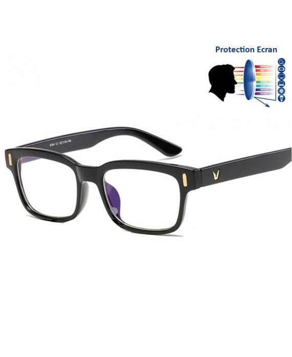 lunettes protection anti lumi re bleue noir. Black Bedroom Furniture Sets. Home Design Ideas