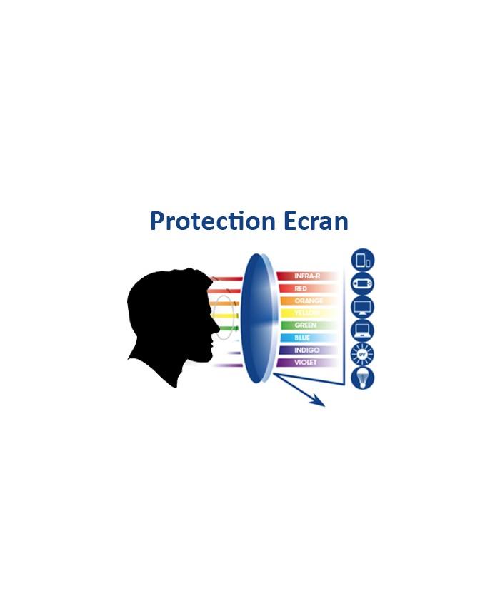 Lunettes Protection Anti Lumi 232 Re Bleue Noir