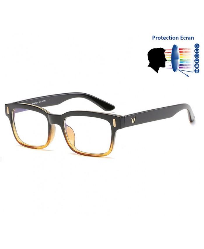 lunettes protection anti lumi re bleue noir marron. Black Bedroom Furniture Sets. Home Design Ideas