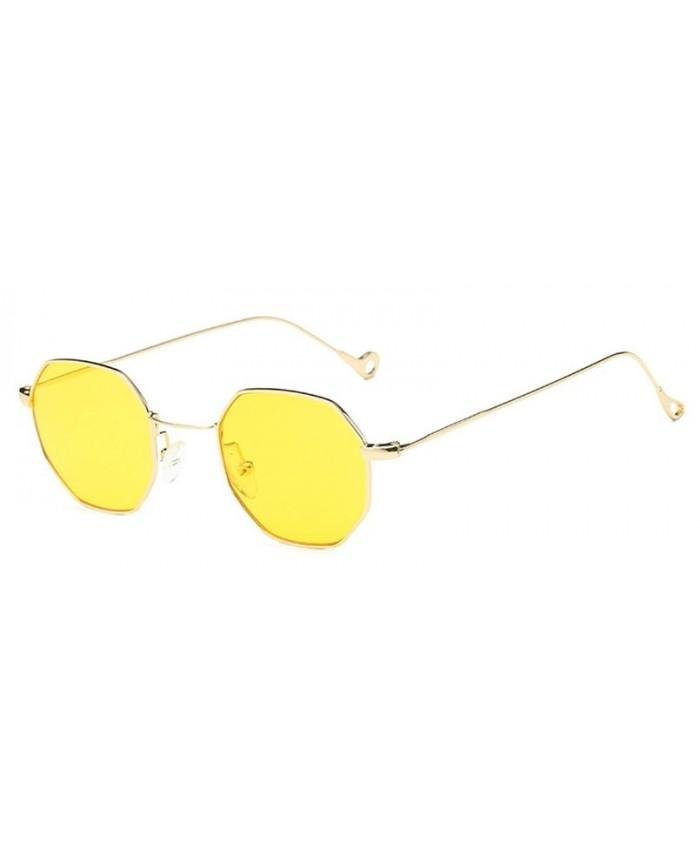 95631b02b1 Lunettes de soleil octogonale jaune · Lunettes de soleil octogonale jaune  ...