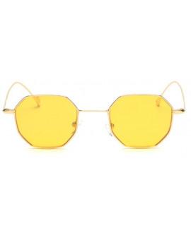 Lunettes de soleil octogonale jaune