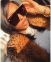 Lunettes de soleil Masque pour femme style DIOR