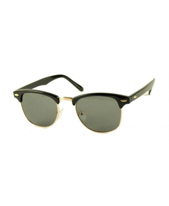 Lunette style Clubmaster noir/gold
