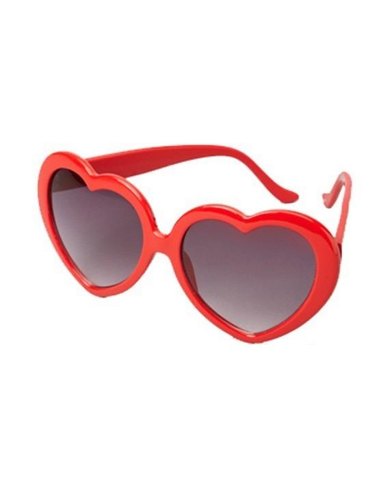 Lunettes de soleil coeur Femme rouges lJnFQmShk