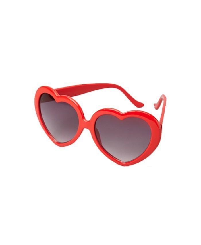 lunette de soleil et soir e en forme de coeur rouge. Black Bedroom Furniture Sets. Home Design Ideas