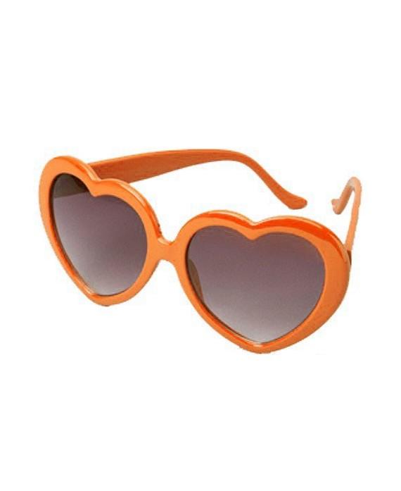 Lunette de soleil Coeur Orange