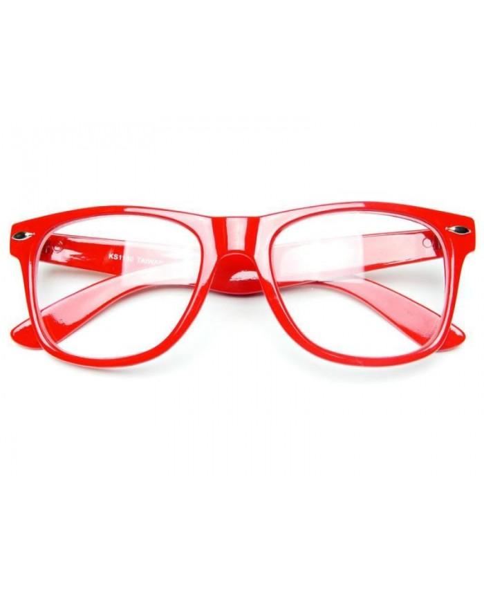 fausses lunettes de vue rouge lunette geek rouge. Black Bedroom Furniture Sets. Home Design Ideas