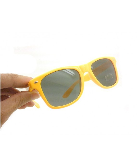 lunette style aviator yellow